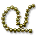 Freshwater Potato Pearls Olive 6-7mm (16