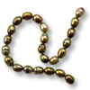Freshwater Rice Pearls Peacock Olive 6-7mm (16