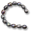 Freshwater Rice Pearls Peacock Grey 9-10mm (16