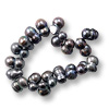Freshwater Potato Pearl Doubles Peacock Grey 6-7x10-12mm (16