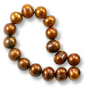 Freshwater Potato Pearl Antique Bronze 8-9mm (16