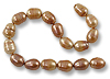 Freshwater Rice Pearls Light Copper Irregular 9-10mm (16