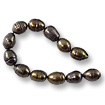 Freshwater Rice Pearl Dark Bronze 7-8mm (16