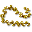 Freshwater Rice Pearl Verde Gold 6-7mm (16