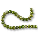 Freshwater Potato Pearl Kiwi Green Mix 7-8mm (16