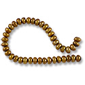 Freshwater Button Pearl Antique Brass 5-5.5mm (16