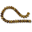 Freshwater Button Pearl Antique Brass 5.5-6mm (16