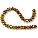 Freshwater Button Pearl Antique Brass 6-6.5mm (16