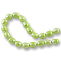 Freshwater Rice Pearl Light Peridot 9-10mm (16
