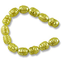 Freshwater Rice Pearls Lemon-Lime 9-10mm (16