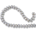 Freshwater Potato Pearls Silver Grey 6-7mm (16