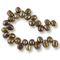 Freshwater Potato Pearl Baroque Nuggets Copper Mix 8-9mm (16