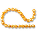 Freshwater Rice Pearls Orange Sherbet 7-8mm (16