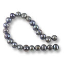 Freshwater Potato Pearls Peacock Grey 8-9mm (16