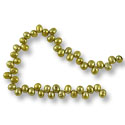 Freshwater Rice Pearl Verde Gold Top Drilled 4-4.5mm (16