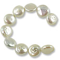 Freshwater Coin Pearls Creme 12-13mm (16