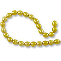 Freshwater Rice Pearls Light Golden Yellow 5-6mm (16