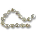 11-12mm Creme Freshwater Baroque Coin Pearl (16