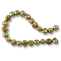 Freshwater Potato Pearls Satin Gold Nugget 7-8mm (16