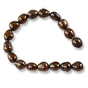 Freshwater Rice Pearl Autumn Brown 7-8mm (16
