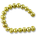 Freshwater Potato Pearl Light Olive 7-8mm (16