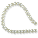 Freshwater Potato Pearls White 3-3.5mm (16