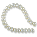 Freshwater Button Pearls White 6-6.5mm (16