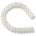 Freshwater Button Pearls White 6.5-7mm (16