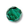 Swarovski 5000 6mm Emerald Round Bead (1-Pc)