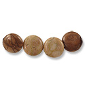 Red Zebra Jasper Disc Beads 14mm (4-Pcs)