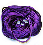 Satin Cord 3mm  Purple (1-Yard)