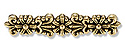 Spacer Bar - 7-Strand Floral 31x6mm Pewter Gold Plated (1-Pc)