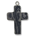 18x25mm Crazy Lace Agate Cross Pendant