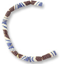 Sandcast Tube Beads Brown/Blue 10-12mm (12