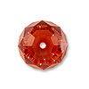 Swarovski 5040 6mm Crystal Red Magma Briolette Bead (1-Pc)