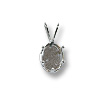 Snap & Set Pendant 9x7mm Oval 6 Prong Sterling Silver (1-Pc)