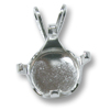 Snap & Set Pendant 10mm Round 4 Prong Sterling Silver (1-Pc)