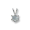 Snap & Set Pendant 6mm Round 6 Prong Sterling Silver (1-Pc)