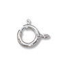 Spring Ring Clasp 5mm Sterling Silver Closed Ring (1-Pc)