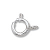 Spring Ring Clasp 6mm Sterling Silver Closed Ring (1-Pc)