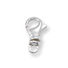 Swivel Lobster Clasp 12mm Sterling Silver (1-Pc)