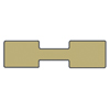 Jewelry Price Tags - Rectangle Gold (1000-Pcs)