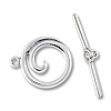 Swirl Toggle Clasp 19x16mm Sterling Silver (Set)