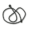 Twisted Cord Necklace 3mm Black