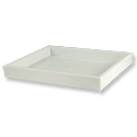 Stackable White Plastic Utility Tray Half Size 1