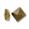 Robles Wood Pyramid Square Bead 15mm Brown (1-Pc)