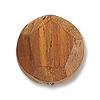 Bayong Wood Faceted Disc Bead 20mm Brown (1-Pc)