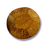 Robles Wood Faceted Disc Bead 20mm Brown (1-Pc)