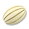 Bleached Grooved Oval Fireball Beads 25x17mm (1-Pc)