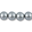Wood Beads Round 16mm Silver (16